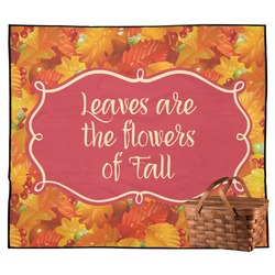 Fall Leaves Outdoor Picnic Blanket