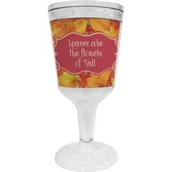 Fall Leaves Wine Tumbler - 11 oz Plastic