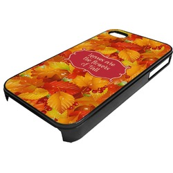 Fall Leaves Plastic 4/4S iPhone Case
