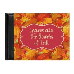 Fall Leaves Genuine Leather Guest Book