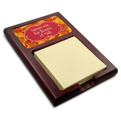 Fall Leaves Red Mahogany Sticky Note Holder