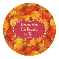 Fall Leaves Round Decal - Custom Size
