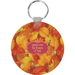 Fall Leaves Round Keychain
