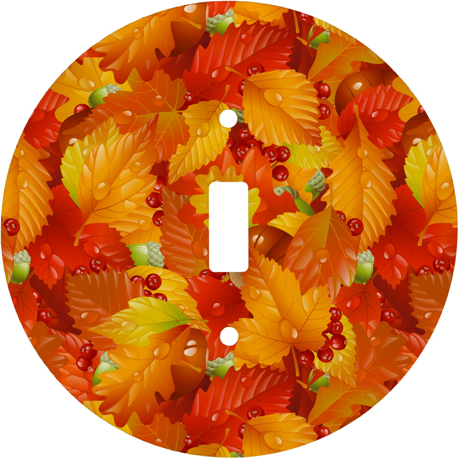 Fall Leaves Round Light Switch Cover Youcustomizeit