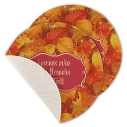 Fall Leaves Round Linen Placemat