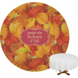 Fall Leaves Round Tablecloth