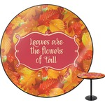 Fall Leaves Round Table
