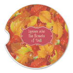 Fall Leaves Sandstone Car Coasters