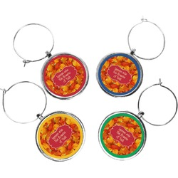 Fall Leaves Wine Charms (Set of 4)