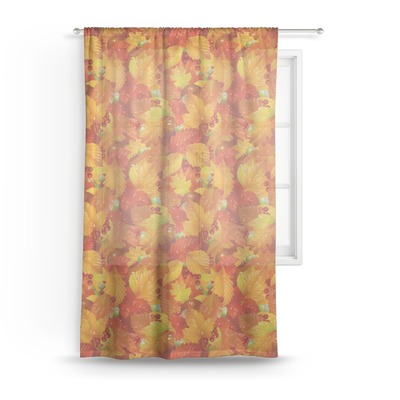 "Fall Leaves Sheer Curtain - 50""x84"""