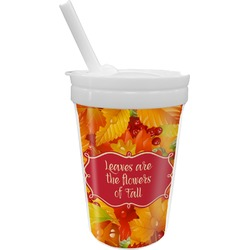 Fall Leaves Sippy Cup with Straw
