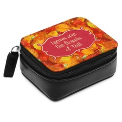 Fall Leaves Small Leatherette Travel Pill Case