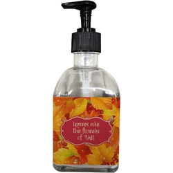 Fall Leaves Soap/Lotion Dispenser (Glass)