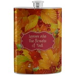 Fall Leaves Stainless Steel Flask