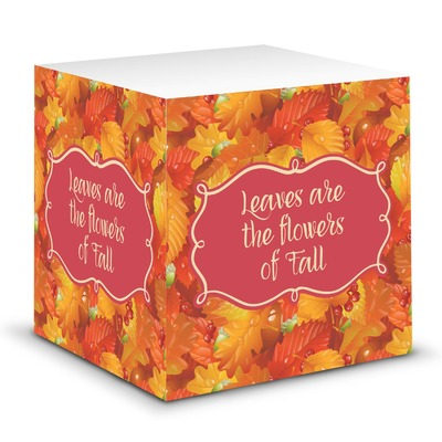 Fall Leaves Sticky Note Cube
