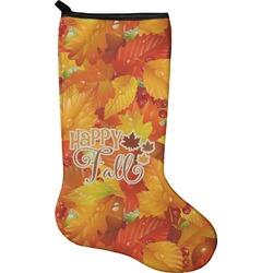 Fall Leaves Christmas Stocking - Neoprene