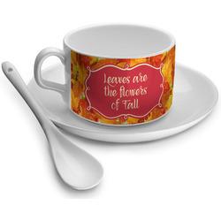 Fall Leaves Tea Cup - Single