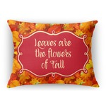 Fall Leaves Rectangular Throw Pillow Case