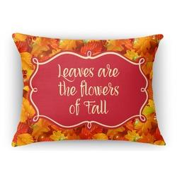 Fall Leaves Rectangular Throw Pillow Case