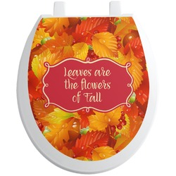Fall Leaves Toilet Seat Decal - Round