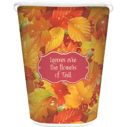 Fall Leaves Waste Basket - Double Sided (White)