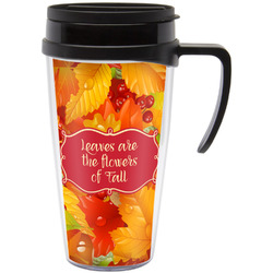 Fall Leaves Travel Mug with Handle