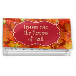 Fall Leaves Vinyl Checkbook Cover