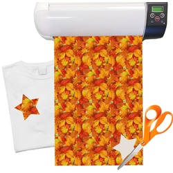 "Fall Leaves Heat Transfer Vinyl Sheet (12""x18"")"