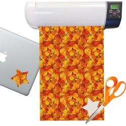 Fall Leaves Sticker Vinyl Sheet (Permanent)