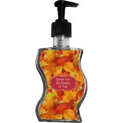 Fall Leaves Wave Bottle Soap / Lotion Dispenser