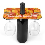 Fall Leaves Wine Bottle & Glass Holder