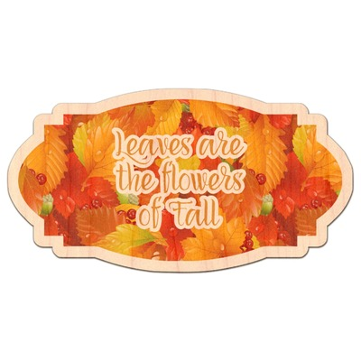 Fall Leaves Genuine Maple or Cherry Wood Sticker