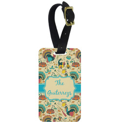Old Fashioned Thanksgiving Aluminum Luggage Tag (Personalized)