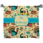 Old Fashioned Thanksgiving Full Print Bath Towel (Personalized)