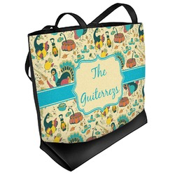 Old Fashioned Thanksgiving Beach Tote Bag (Personalized)