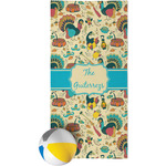 Old Fashioned Thanksgiving Beach Towel (Personalized)
