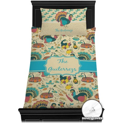 Old Fashioned Thanksgiving Duvet Cover Set - Toddler (Personalized)