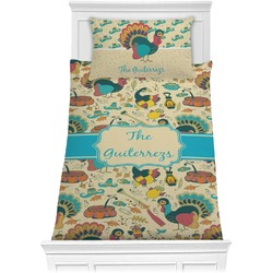 Old Fashioned Thanksgiving Comforter Set - Twin (Personalized)