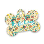 Old Fashioned Thanksgiving Bone Shaped Dog ID Tag (Personalized)
