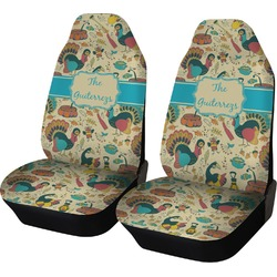 Old Fashioned Thanksgiving Car Seat Covers (Set of Two) (Personalized)