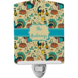 Old Fashioned Thanksgiving Ceramic Night Light (Personalized)