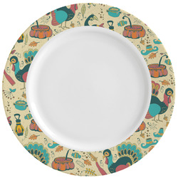 Old Fashioned Thanksgiving Ceramic Dinner Plates (Set of 4) (Personalized)