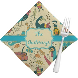 Old Fashioned Thanksgiving Napkins (Set of 4) (Personalized)