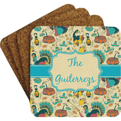 Old Fashioned Thanksgiving Coaster Set (Personalized)