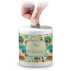 Old Fashioned Thanksgiving Coin Bank (Personalized)