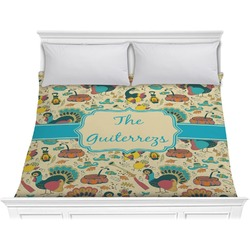 Old Fashioned Thanksgiving Comforter - King (Personalized)