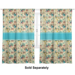 "Old Fashioned Thanksgiving Curtains - 20""x54"" Panels - Lined (2 Panels Per Set) (Personalized)"