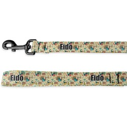 Old Fashioned Thanksgiving Deluxe Dog Leash (Personalized)