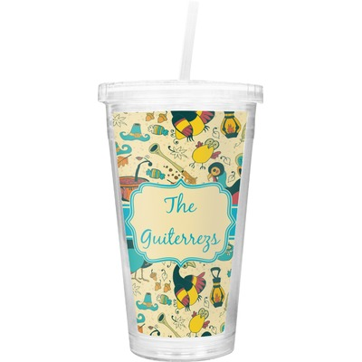 Old Fashioned Thanksgiving Double Wall Tumbler with Straw (Personalized)
