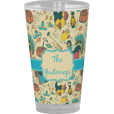 Old Fashioned Thanksgiving Drinking / Pint Glass (Personalized)
